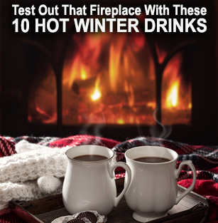test out drinks fireplace
