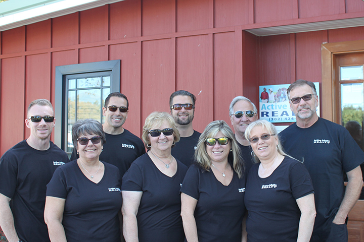 Shop small Saturday - Active Adults Realty team with new shirts from CreateAShirt