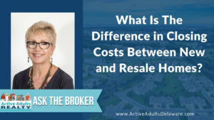 difference in closing costs between new homes and resale homes