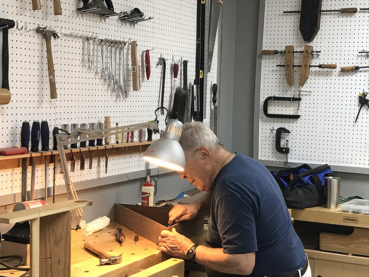 Featured Boomer Bob Smith, a woodworker